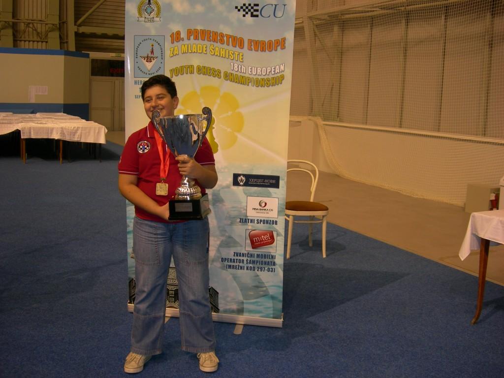 EYCC 2008 Herceg Novi - Medal Ceremony