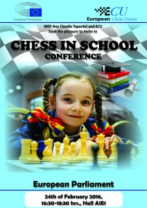 Chess In School Conference Brussels poster