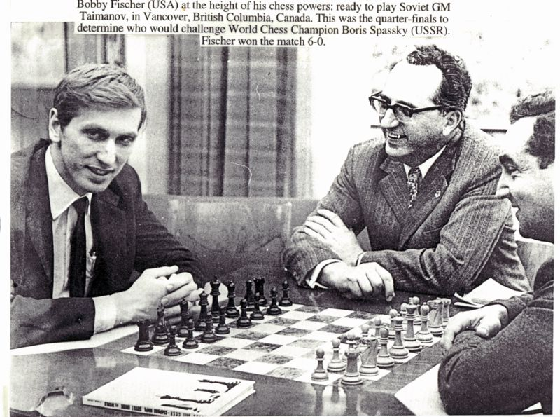 Bobby Fischer and Mark Taimanov