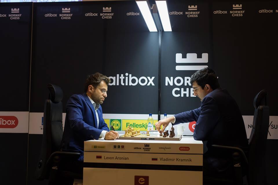 Levon Aronian and Kramnik Vladimir