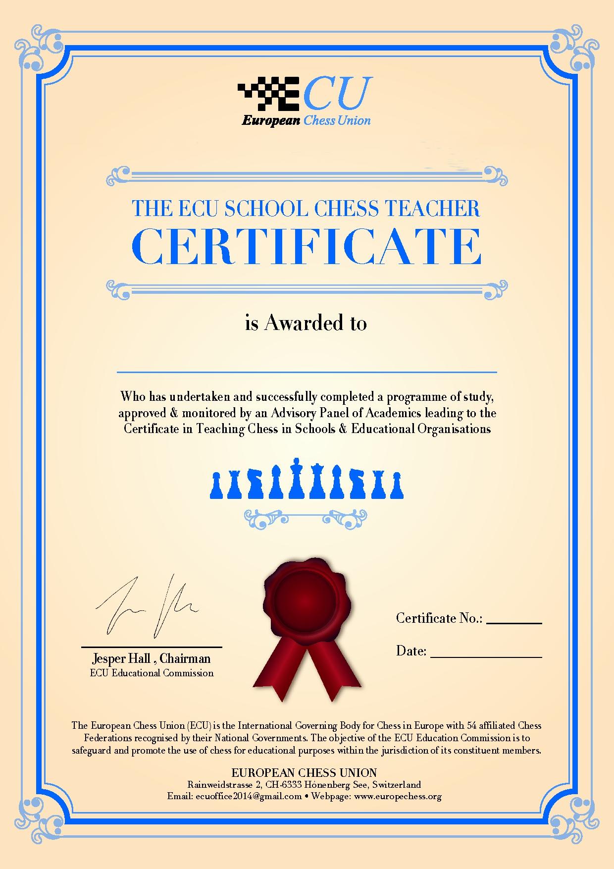 Ecu School Chess Teacher Training Course London Ecu