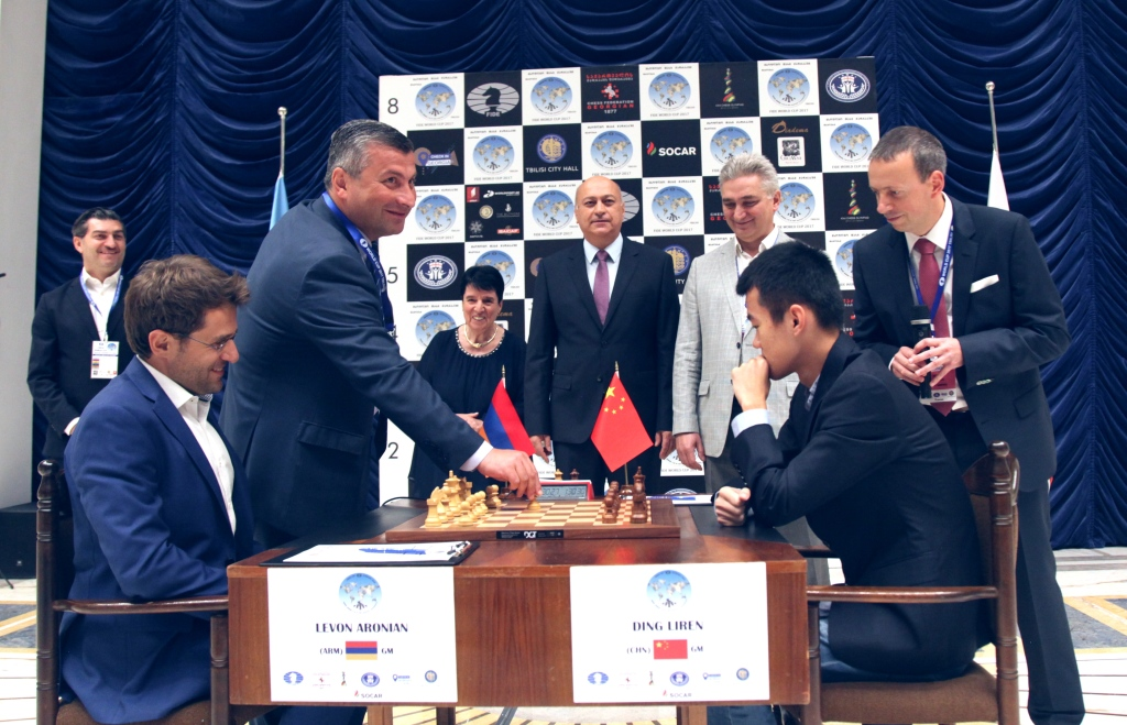 The first game of the final match of FIDE World Cup 2017. Photo by: Anastasia Karlovich