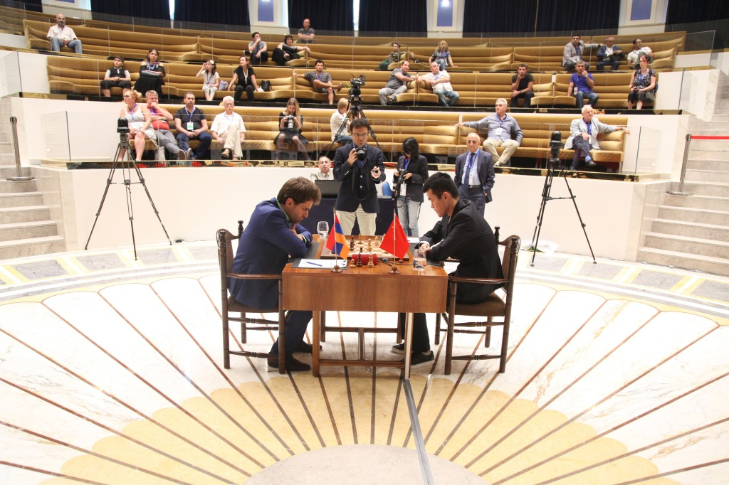 The second game of the final match of FIDE World Cup 2017. Photo by: Anastasia Karlovich