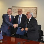 Signing the Agreement in Pristina, Kosovo